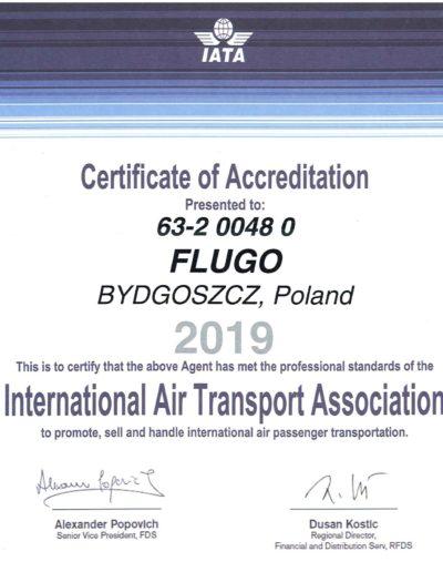 Certyfikat IATA 2019