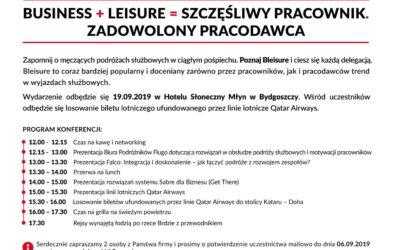 Organizujemy konferencję Business travel & Bleisure